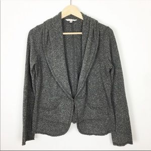 Cabi knit casual blazer jacket sweater collar M